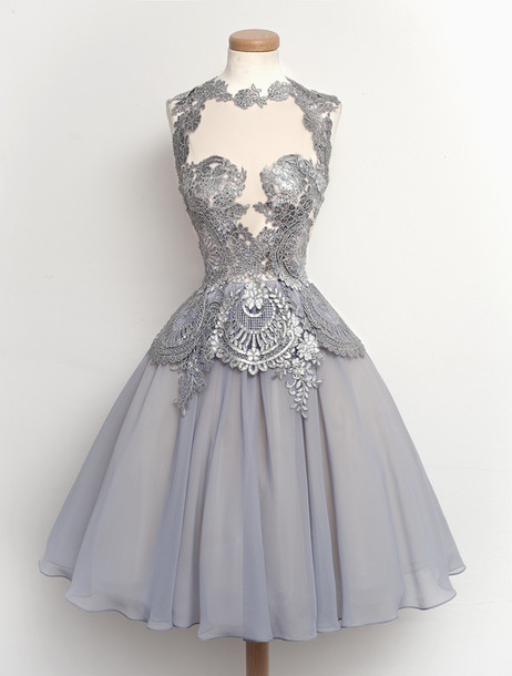 Dress Lace Dress Cocktail Dress Grey Dress Silver Dress Sequin Dress Wheretoget