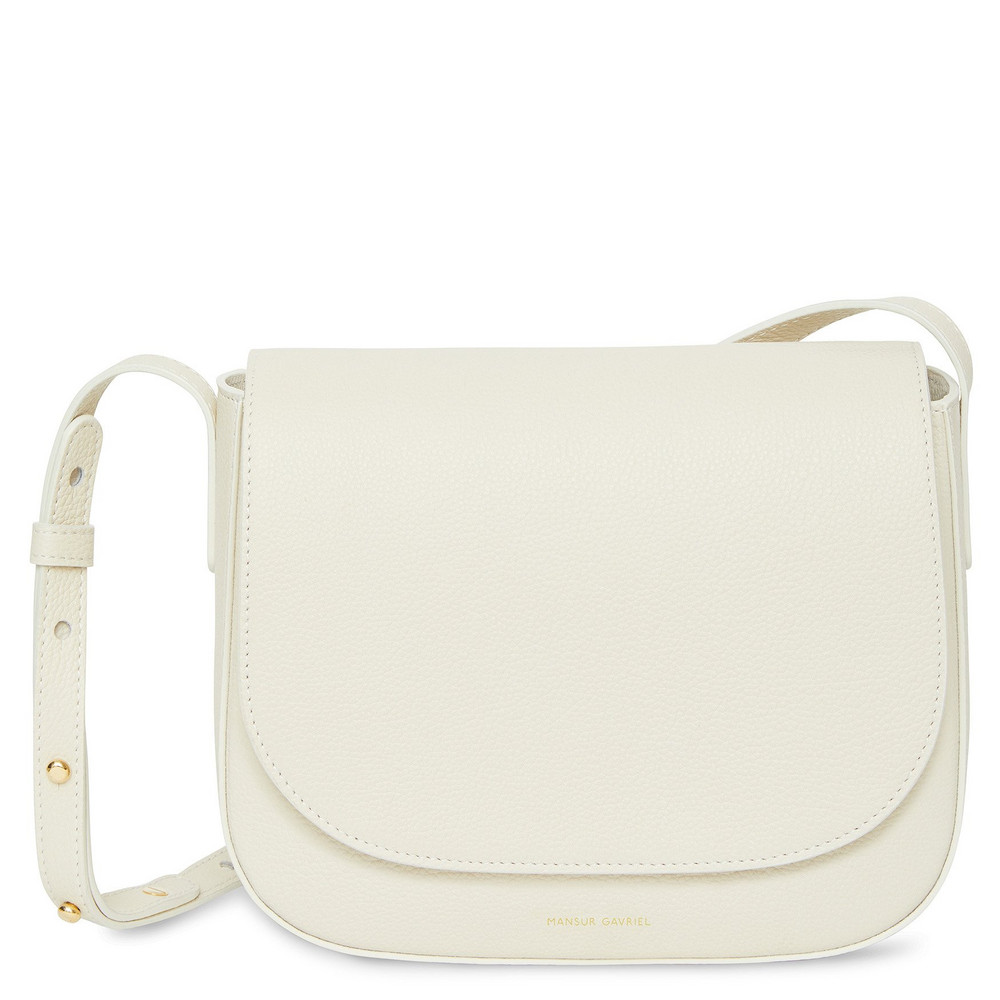 Mansur Gavriel Pebble Crossbody - Creme