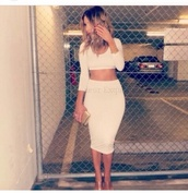 dress,white,skirt,white skirt,crop tops,two-piece,white two piece,high waisted skirt,cute,outfit,t-shirt,aliexpress crop longskirt bodycon,midi skirt,bodycon skirt,top,crop,white crop tops,long sleeve crop top,white top,low cut,long sleeves,white dress,two piece dress set,long sleeve dress,party,party dress,sexy party dresses,sexy,sexy dress,party outfits,bodycon,bodycon dress,summer,summer dress,summer outfits,spring,spring dress,spring outfits,fall outfits,fall dress,winter outfits,winter dress,clubwear,club dress,girly,girly dress,cute dress,beautiful,trendy,style,stylish,dope,birthday dress,date outfit