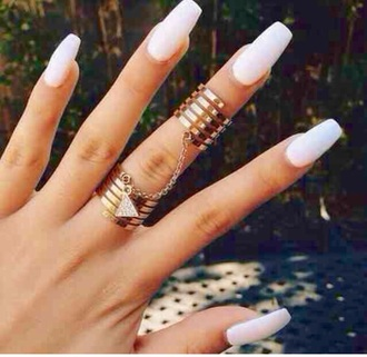 jewels rings and tings nail accessories ring gold gold ring linked ring knuckle ring jewelry