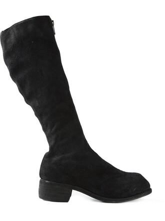 zip horse women boots leather black shoes