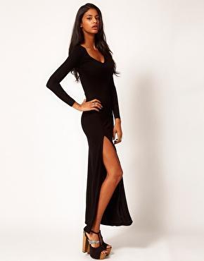 ASOS | ASOS Maxi Dress With Split & Long Sleeve at ASOS