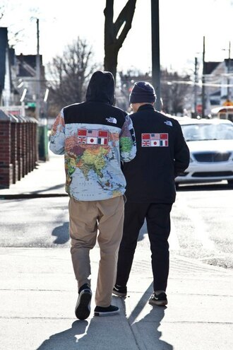 jacket supreme fashion map print