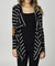 Black striped elbow patch cardigan