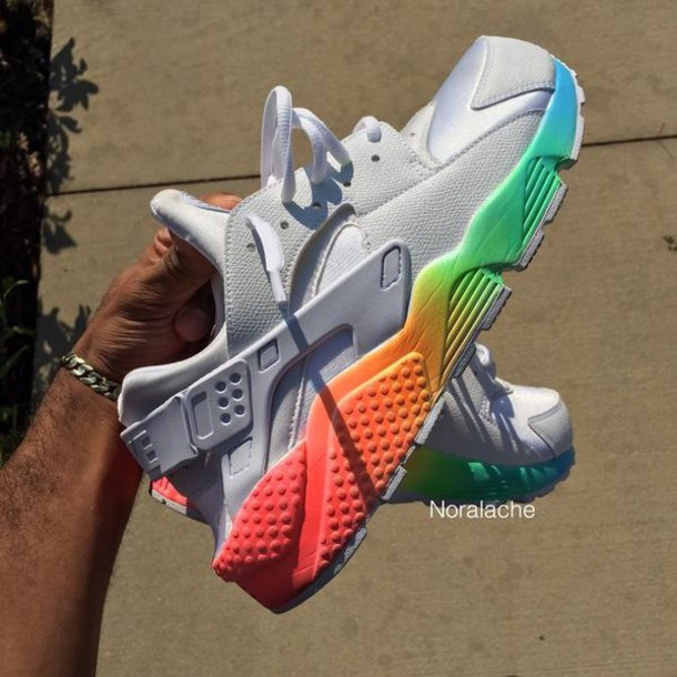 shoes nike nike air huarache rainbow