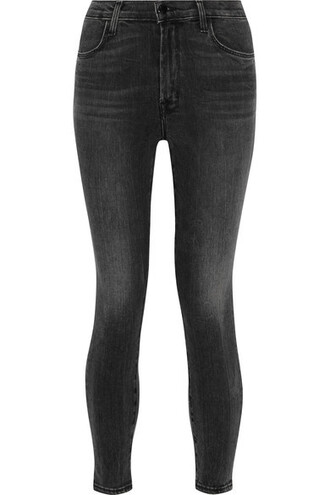 jeans skinny jeans cropped high charcoal