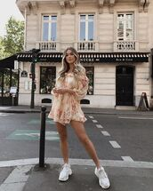 dress,floral dress,short dress,shoes