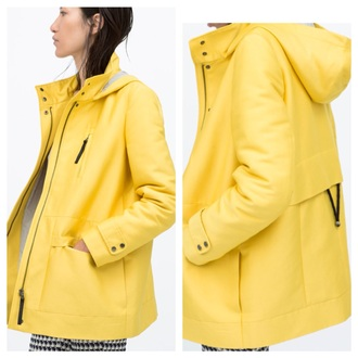 jacket yellow zara yellow jacket yellow coat