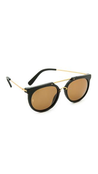 sunglasses leather black bronze