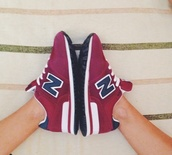 shoes,nb,new balance,burgundy,sneakers