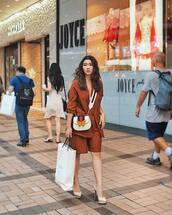 jacket,blazer,shorts,pumps,platform shoes,crossbody bag,gucci bag