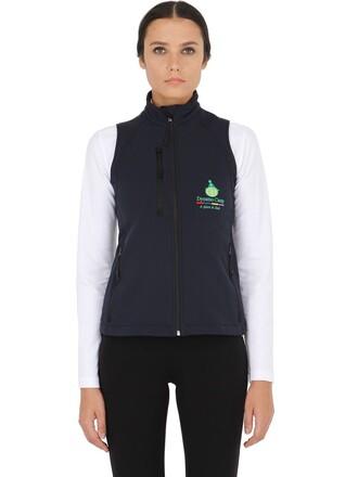 vest shell soft navy jacket