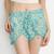 Jade Daisies Pom Pom Shorts