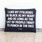 Black eyelashes, black heart pouch