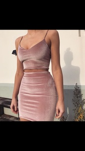 skirt,velvet,two piece dress set,pink dress,dress,tumblr,outfit goals,velvet skirt,velvet two piece,velvet top,pink,nude dress,nude,bodycon dress,romper,black dress,maxi dress,red dress,bodycon,party dress,sexy party dresses,sexy,sexy dress,party outfits,sexy outfit,summer dress,summer outfits,spring dress,spring outfits,fall dress,fall outfits,winter dress,winter outfits,classy dress,elegant dress,cocktail dress,cute dress,girly dress,date outfit,birthday dress,homecoming,homecoming dress,wedding clothes,wedding guest,engagement party dress,graduation dress,prom,prom dress,short prom dress,formal,formal dress,formal event outfit,romantic dress,romantic summer dress,summer holidays,holiday dress,baddies,instagram baddie,tumblr baddie,insta baddie