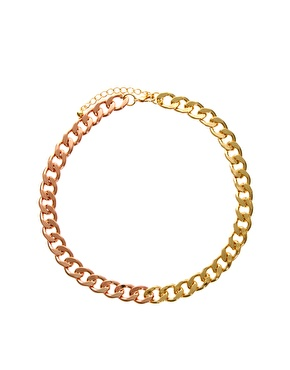 Asos mixed curb chain necklace at asos