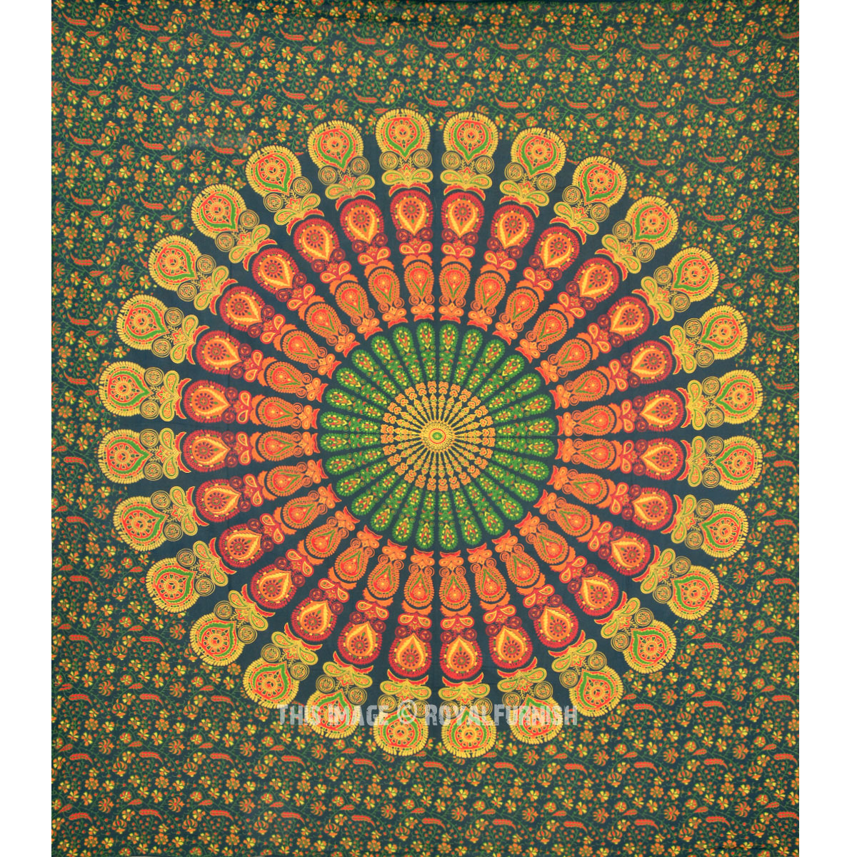 Indian Mandala Hippie Bohemian Tapestry Coverlet - RoyalFurnish.com