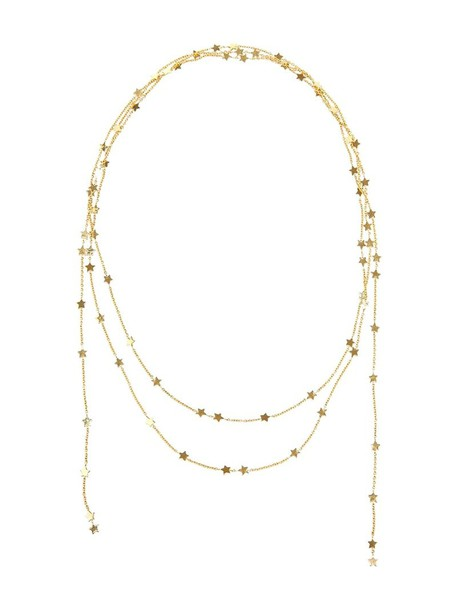 Luis Miguel Howard women necklace gold yellow grey metallic jewels