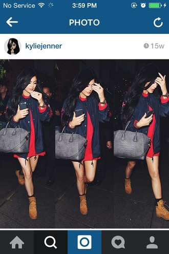 coat kylie jenner bag shoes jacket