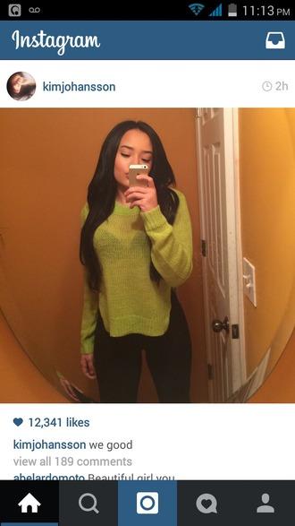 shirt green sweater