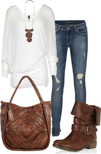 shoes boots combat brown brown combat boots brown shoes brown boots jeans blouse
