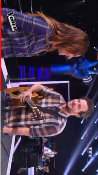 shirt blue green zazie the voice