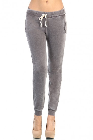 LoveMelrose.com From Harry & Molly | Gray Track Pants Skinny