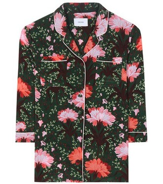 blouse floral silk top