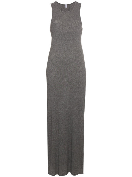 dress jersey dress maxi women cotton grey