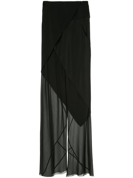 KITX women black silk pants