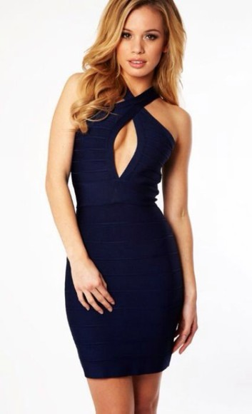 dress navy dress keyhole dress keyhole navy blue navy blue dress sexy bandage dress bandage