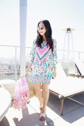 hautepinkpretty blogger sunglasses dress shoes jewels bag