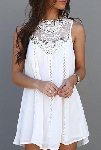dress white white dress lace dress lace white lace dress white lace