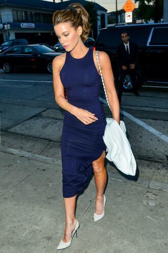 dress navy pumps high-low dresses kate beckinsale shoes