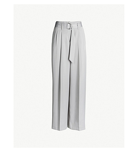 TOPSHOP Wide-leg high-rise satin pants