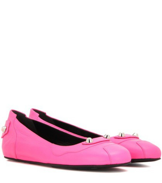 Balenciaga classic leather pink shoes
