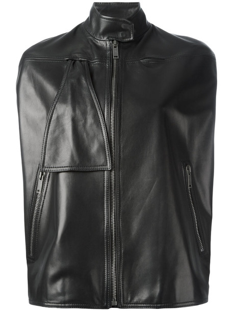 jacket short women black silk
