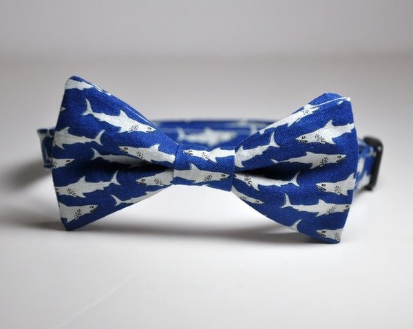 jewels shark blue the bow tie