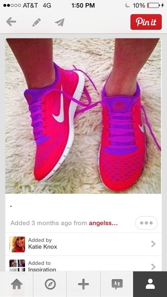 shoes nike nike running shoes pink purple shoes