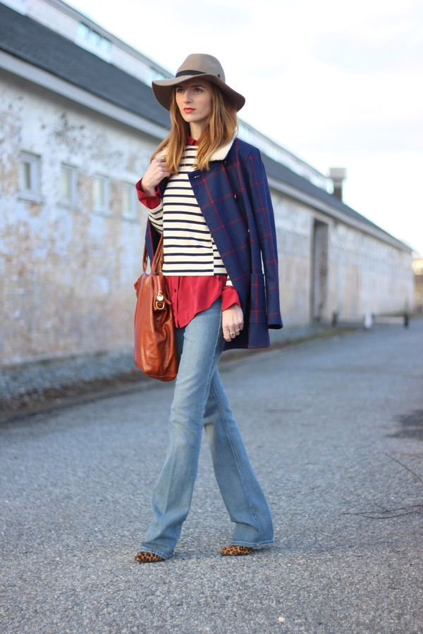 jess style rules jeans blouse coat bag shoes hat