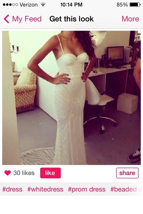 dress white prom white prom dress sparkly dress long prom dress