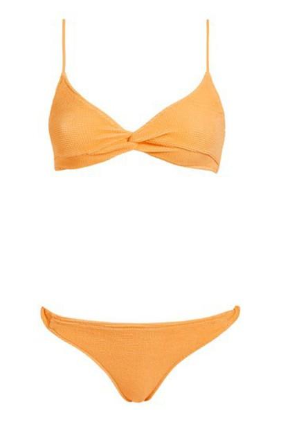 bikini bikini top orange swimwear