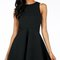 Fit & flare cutout back dress