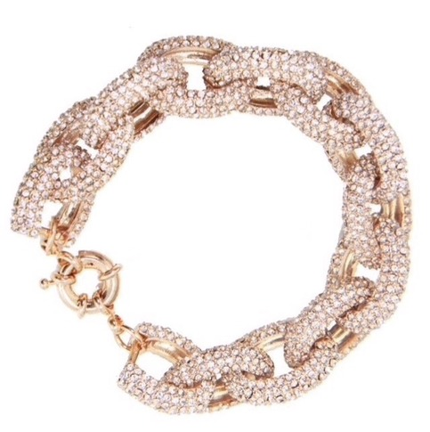 Audrey pave link bracelet · mir · online store powered by storenvy