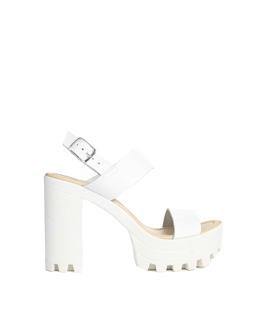 ASOS HIGH TIDE Leather Heeled Sandals at asos.com