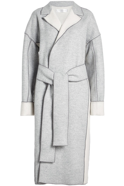 Victoria Victoria Beckham Wool Coat with Belt  in grey
