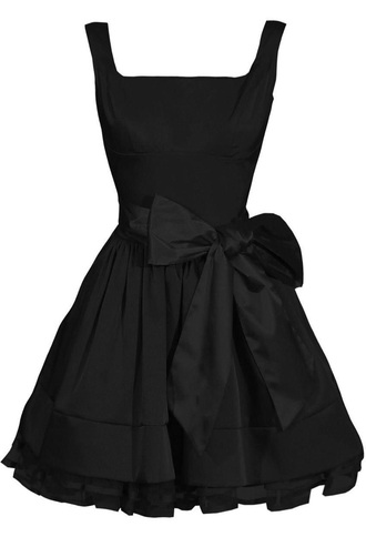 dress dress with bow circle dress circle skirt little black dress