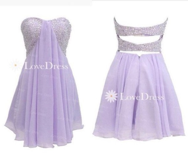 dress lavendar homecoming dance short dress