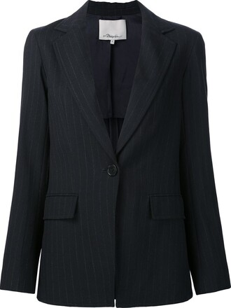 blazer women blue wool jacket