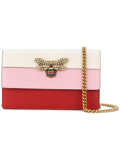 gucci mini women bag mini bag leather purple pink